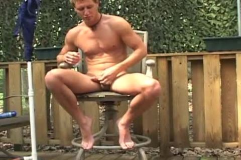 Grilling and Stroking... MY dick!!!