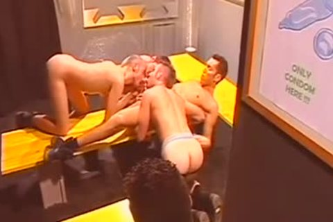 Super attractive beneathwear Party Turned Into Fiery gay orgy Session