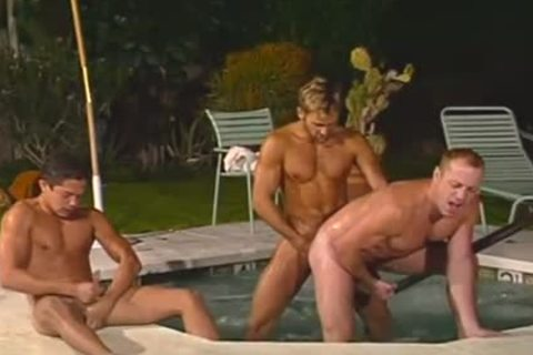 Sizzling dirty furious pounding In Jabecausezi outdoors Hunks threesome
