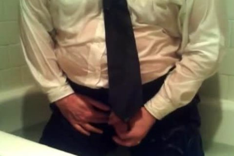 Pants Shirt And Tie And Swhores  And Socks In Tub With cum