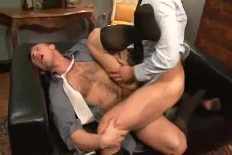 pounding His anal Back At The Office