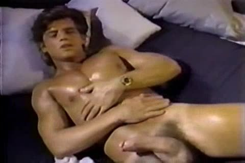 Jerking To A Jeff Stryker video Then engulfing Him For Real