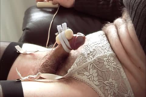 CD Edges And cums Watching Porn With thongped On dildo