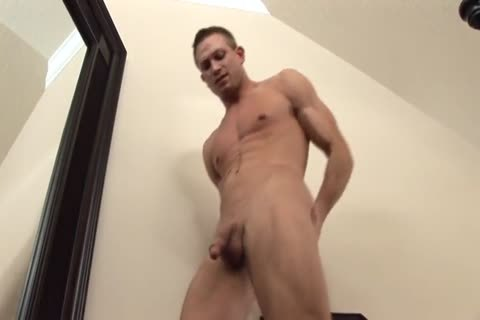 Solo lusty jerking off