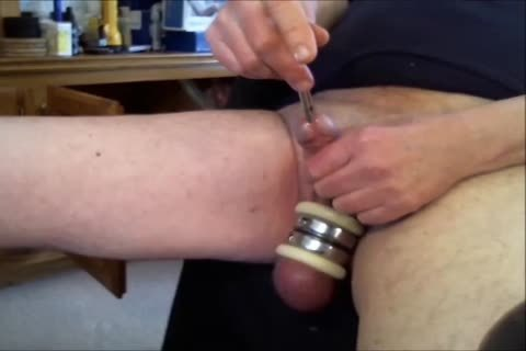 """Doing Some Sounding With Three Different toys.  First The 10MM Sound, And Then The 11MM Sound, And lastly The Urethral sextoy.  Listen For The """"chattering"""" Noises As I Probe Into My Urethra.  Ends Up With A Powerful cumshot!!"""