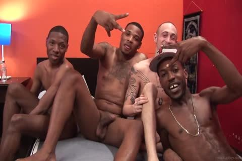 naughty Interacial orgy