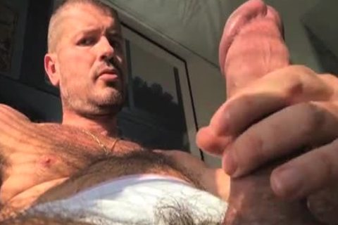TIERY B. // PHOTO-PORNO-GRAPHER - Copyright / Climax - Masturb And Cumming Into penis rubber - tasty bushy man