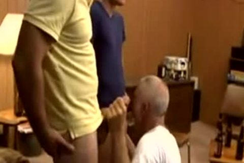 dad Sucks Two young rods Till sucking Up In throat