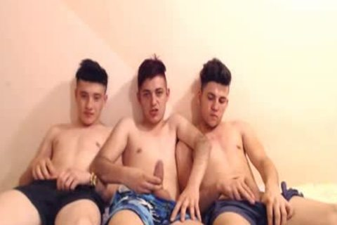 3 lusty Romanian twinks With Super tight buttholes Have joy
