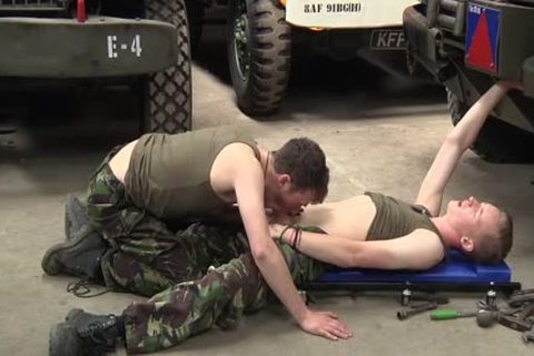 delicious And lewd twinks In Uniform Olly And Dylan suck And fuck