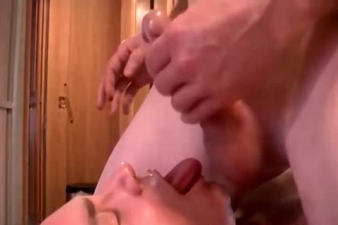 concupiscent gay non-professional gets His face hole Filled With A sexy 10-Pounder