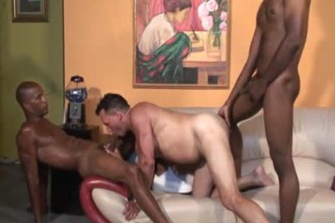silly White chap sucking black dicks
