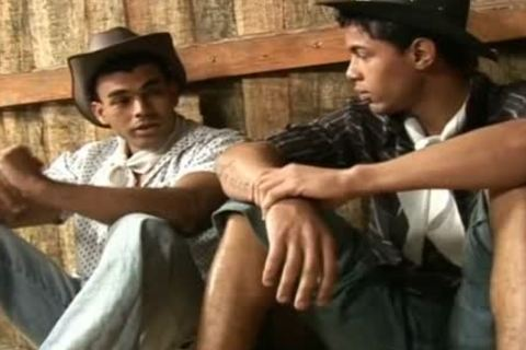 Latino non-professional boyz plowing Each Other In Barn