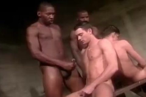 Blindfold Interracial homosexual Love