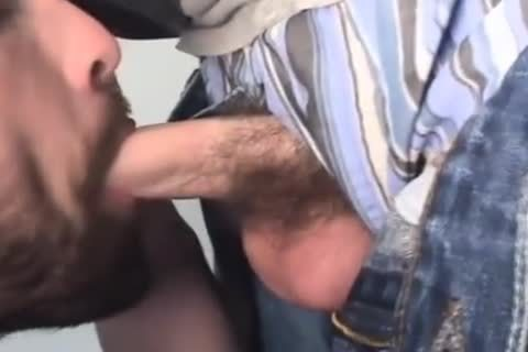Bearded Homo Likes Giving blowjob To His Straight ally.