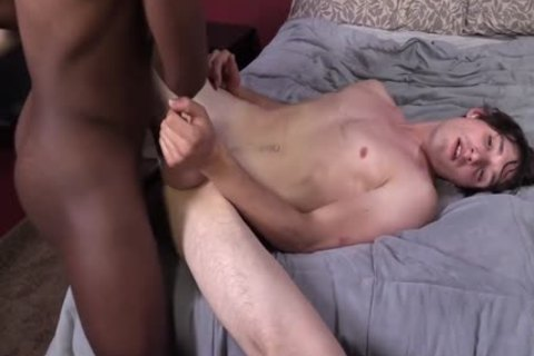 Caleb Andrews Enjoys His First darksome dick