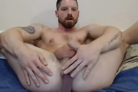 Red Haired Plays And Cums
