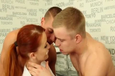 pretty bisexual males nailing With A Redhead