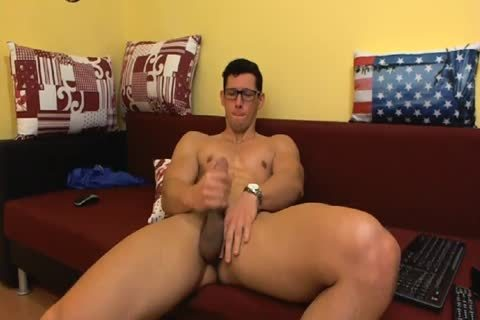 Smoking White twink With muscular Body Jerks Off