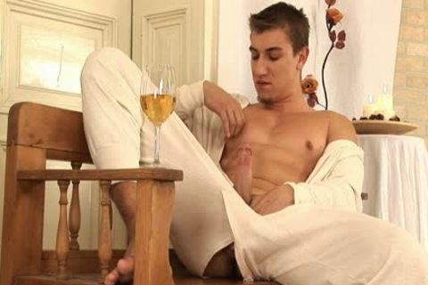 This fashionable gay dude Comes Home And Drinks Some Wine previous to His Has A Sensual Self Devotion Session