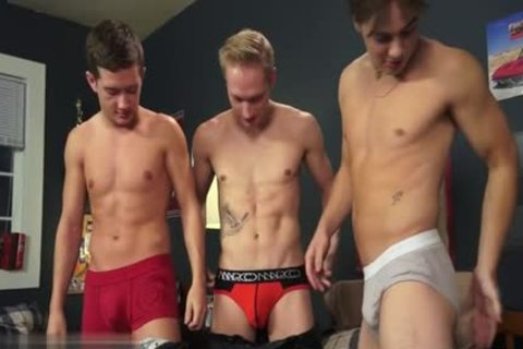 cute homosexual threesome And cumshot