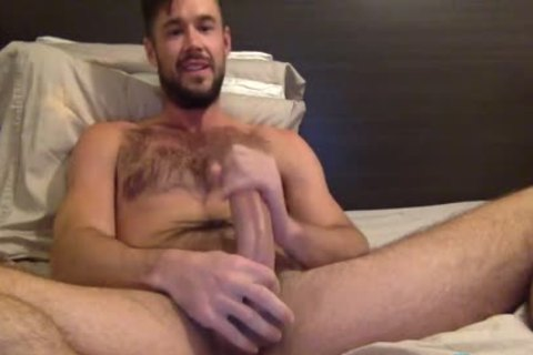Mike De Marko Jerks His thick Porn penis
