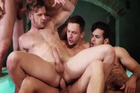 lovely gay 3some With cumshot