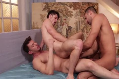 Latin homo double penetration With Facial