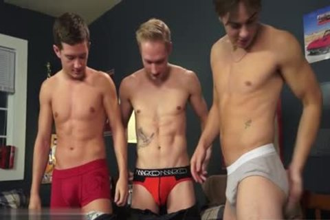 attractive homosexual threesome And cream flow