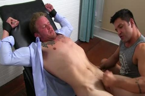 Muscle gay Foot With sperm flow