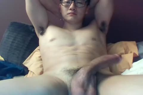 A gigantic Dicked South Korean lad Jerks And Cums