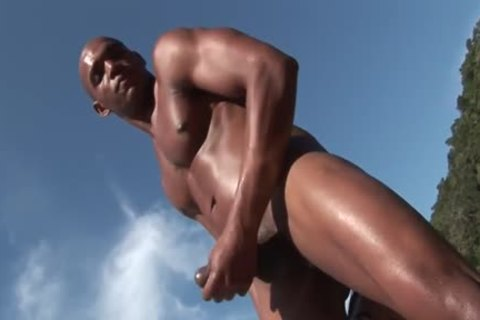 ebony lad acquires screwed In The ass Oin A Beach