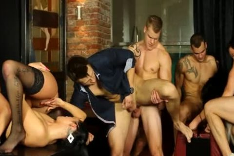 gays And girls orgy In disrobe Club 3