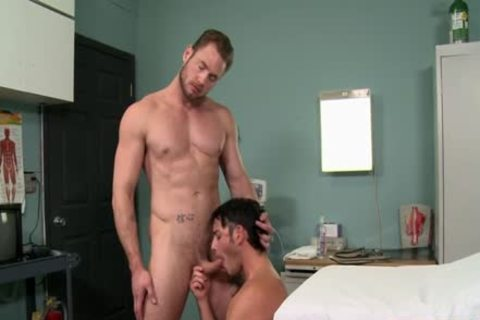 Muscle Doctor butthole job With ball cream flow