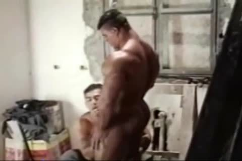 Brasil Bodybuilders enormous butthole drilled By Hunk