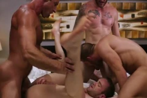 large dick Son Foursome And cumshot