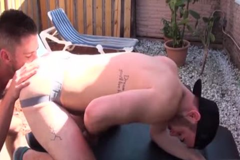 bushy Son pooper rimming And ejaculation