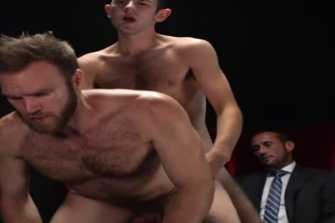 MormonBoyz - Two Missionaries poke As torture For Priest Daddy