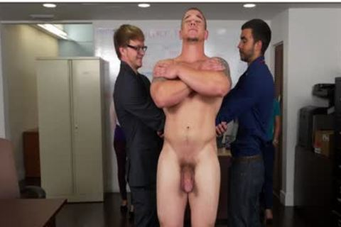 GRAB butthole - Hunky Boss Teaches His Office Team All About Teamwork