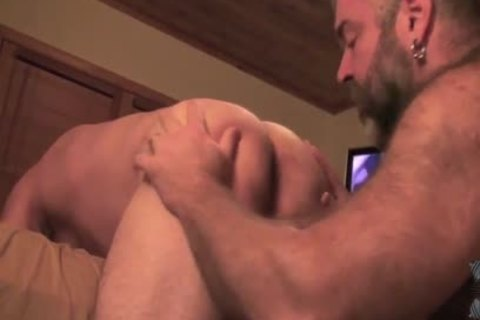 Two homosexual Bears bunch-sex Each Other raw
