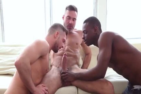 large 10-Pounder Son threesome With cumshot