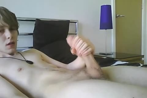 horny twink Jerkin His large penis