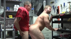 Janitor's Closet - Colby Jansen with Darin Silvers ass dril