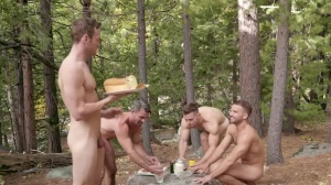 Deacon's bareback group-sex - butthole Scene