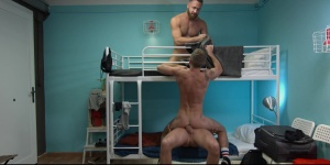 Hostel Takeover - Damon Heart & Logan Moore ass Nail