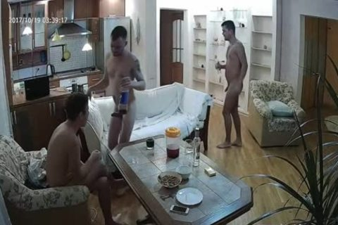 pretty Voyeur homo three-some With plenty of oral sex-service