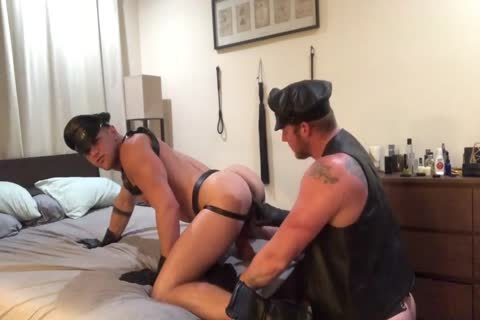 A couple's Leather raunchy fantasy