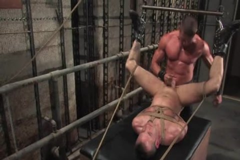 serf tied Up With A Full Erection