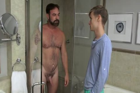 chap plows twink bare In The Shower And In bed