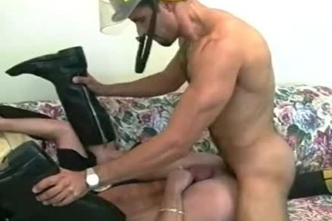 supple Fireman gets His sleazy arsehole Stretched